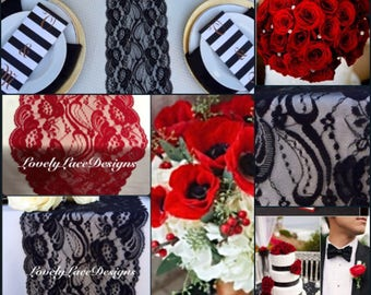 Red Black Wedding Etsy