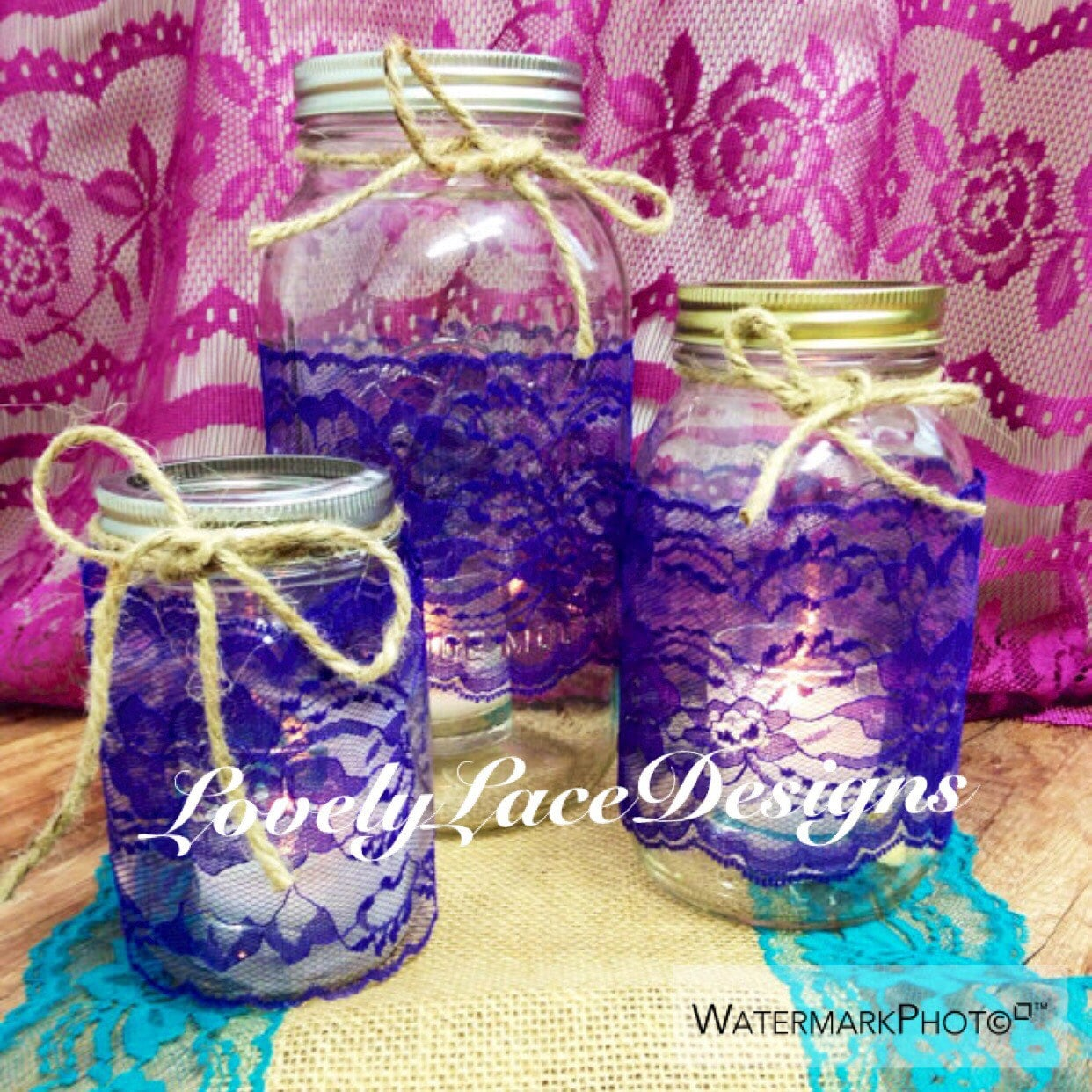 Decorating Jars With Lace 2 Kitchen Cabinet Design