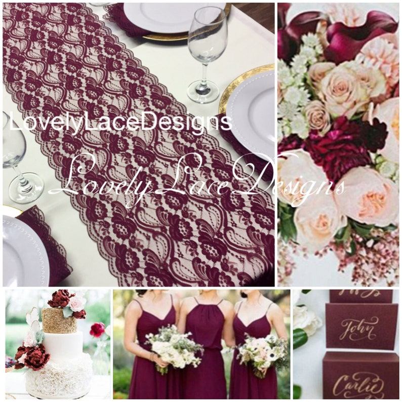 Wedding Table Lace Runner/12wide/ 3ft-10ft long /Wedding image 0