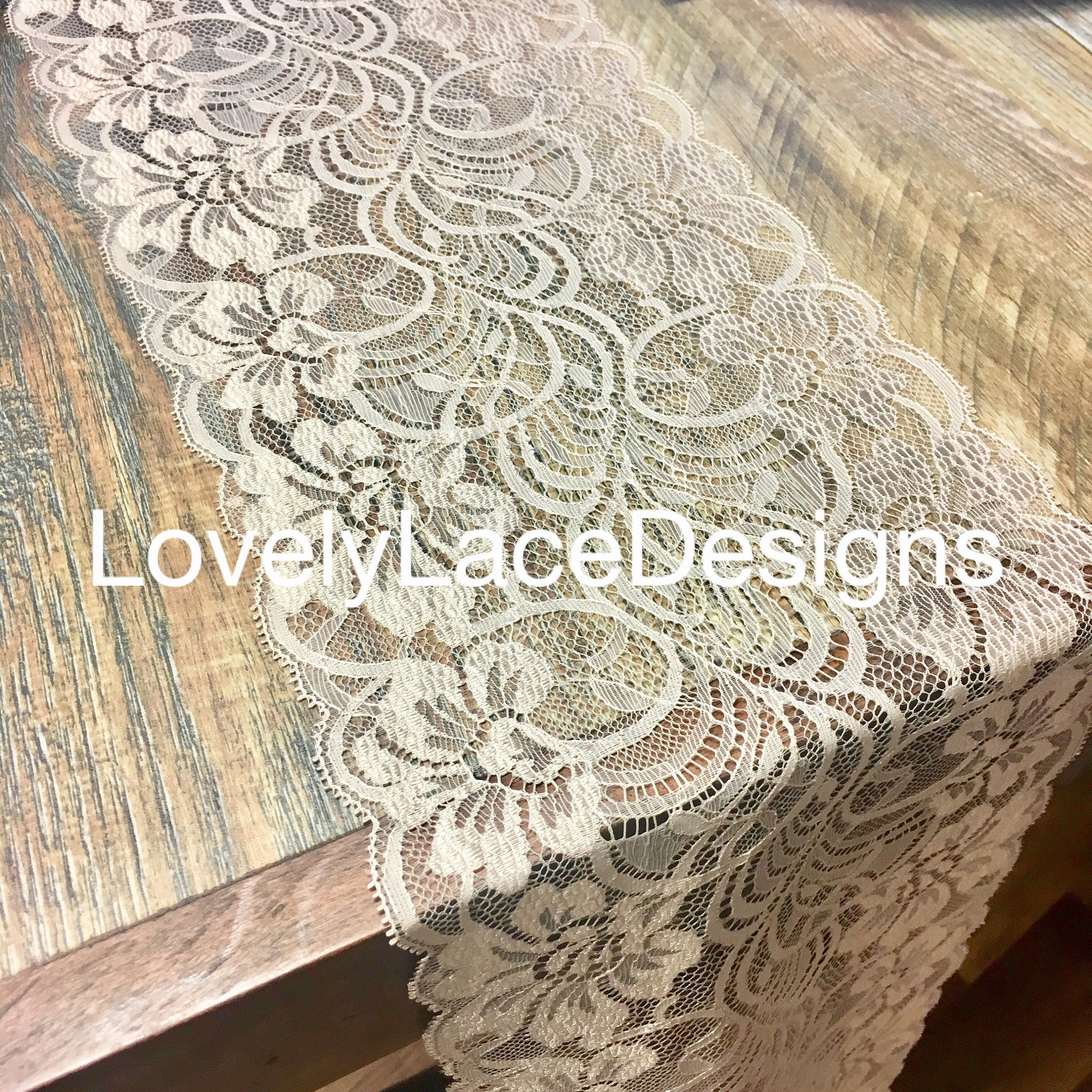 Champagne/Vintage/ Lace Table Runners/7 Wide/6ft long/Wedding Decor ...