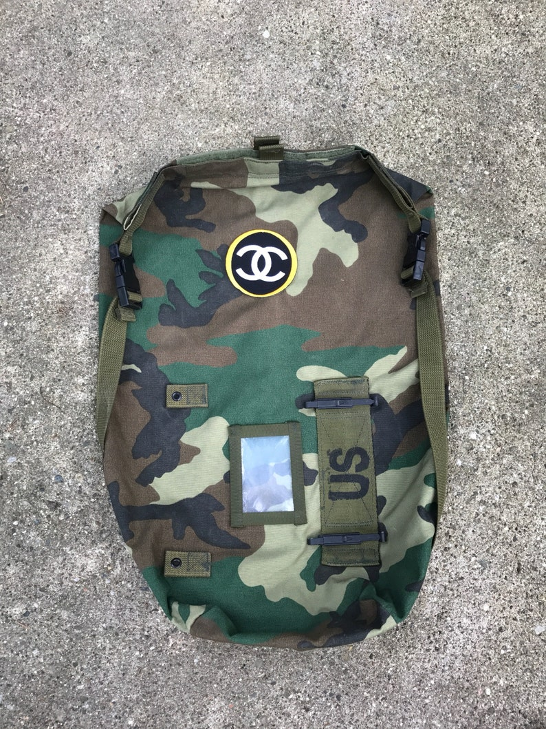 Camouflage Military Bag wPatch.