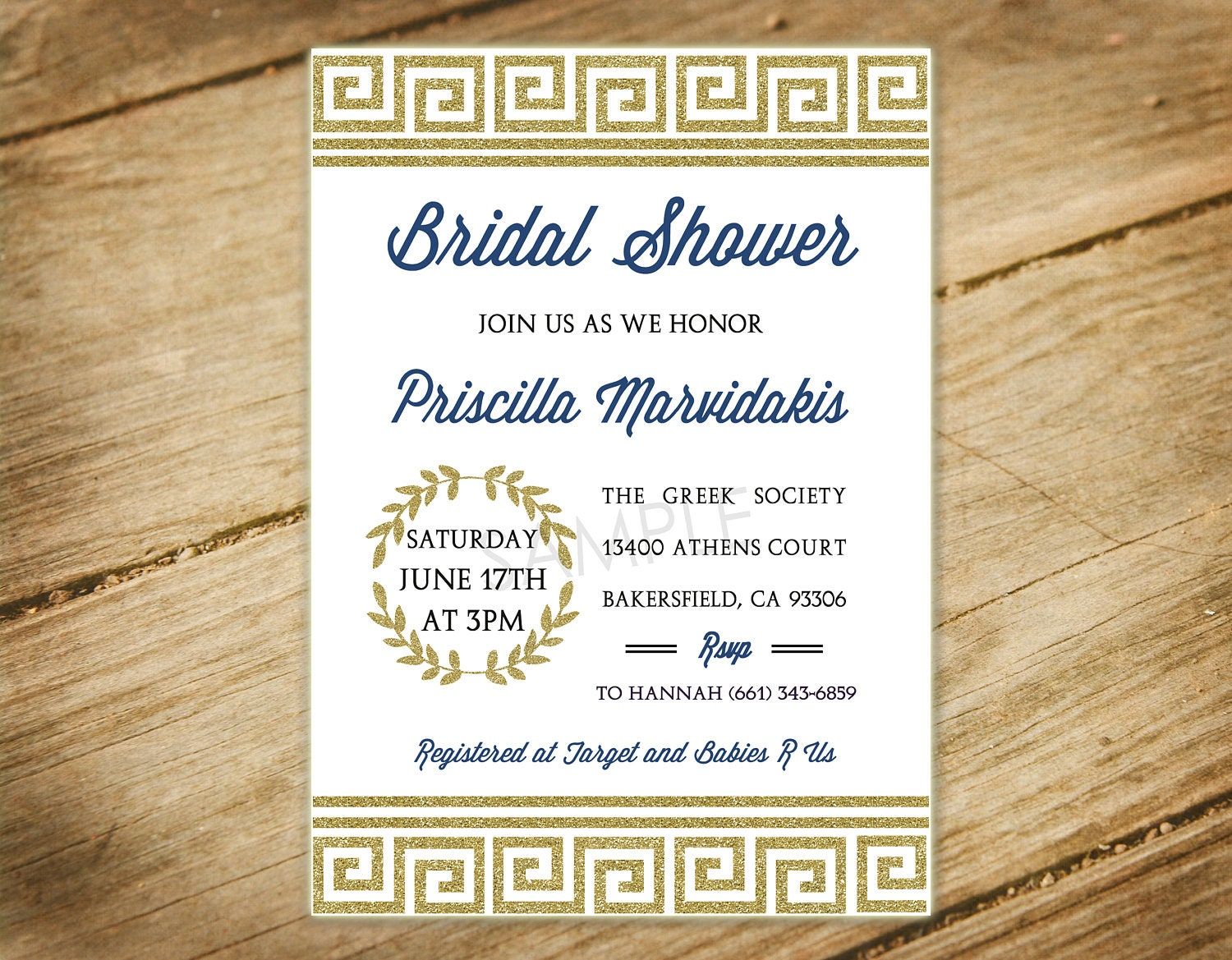 Greek Themed Bridal Shower / Baby Shower / Toga Party / Gold   Etsy
