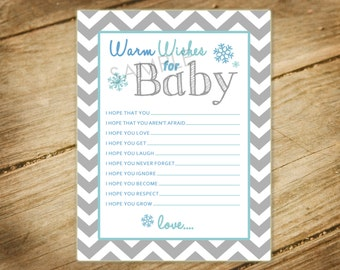 Oh Baby Its Cold Outside Baby Shower Matching Warm Wishes for Baby