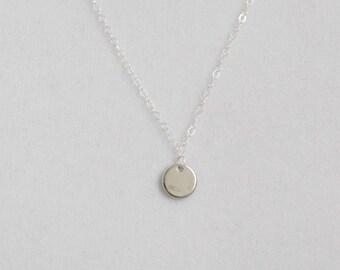 Tiny Dot Necklace / Sterling Silver Necklace