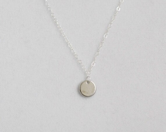 Tiny Dot Silver Necklace