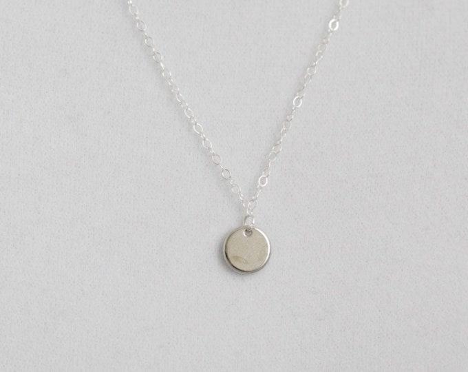Tiny Dot Silver Necklace