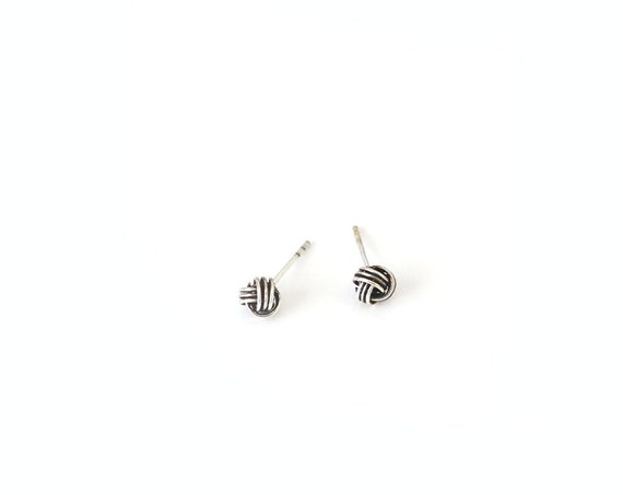 Silver Twist knot Earrings