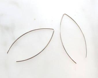 V-wire Earrings/ 925 Sterling Silver