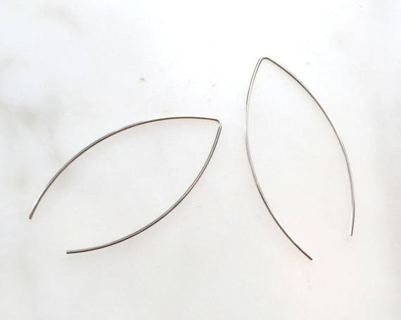 V-wire Earrings/ 925 Sterling Silver