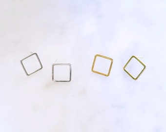 Open Square Post Earring