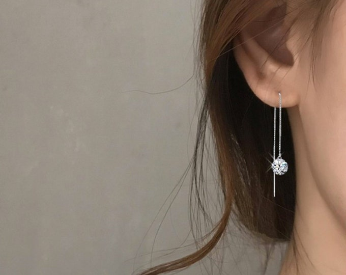 Simple Line Threader Earrings