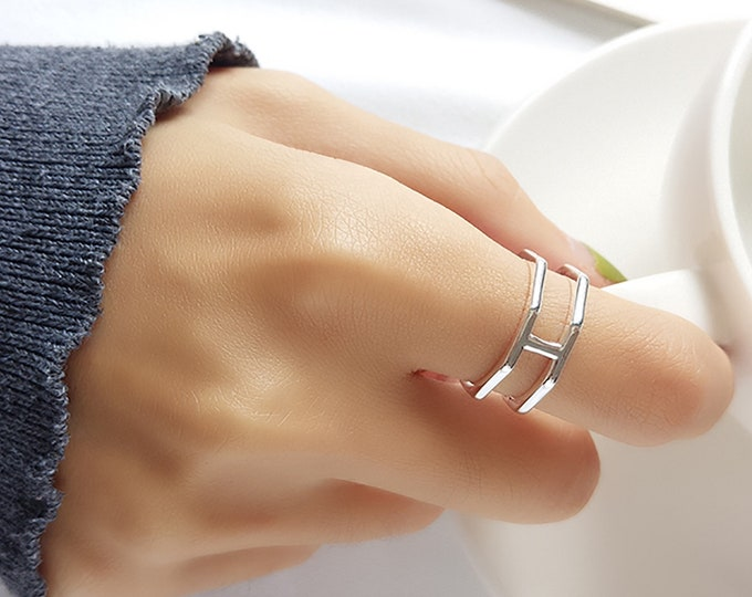 Multi Layer Silver Ring