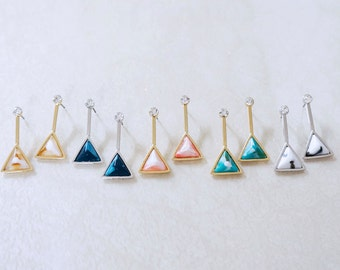 Triangle post earring