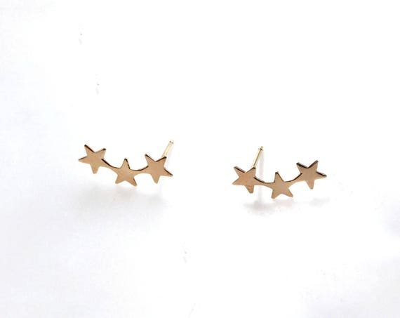 Gold Tiny Star Earrings