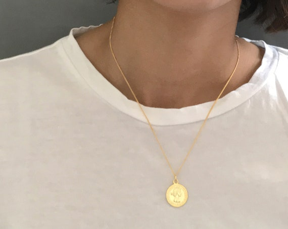 Gold Elizabeth Coin Necklace