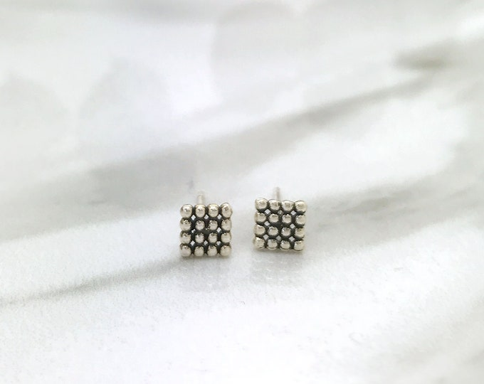 Silver bubble textured style  Earrings