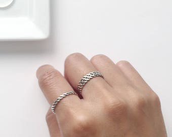 Sterling Silver Twisted Rope Ring