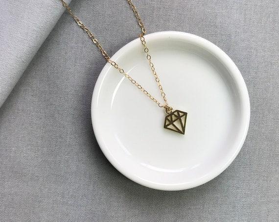 Diamond Shape pendant necklace