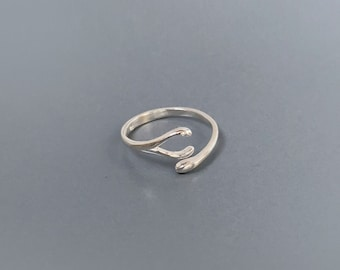925 Sterling Silver Wishbone Ring / Tiny Silver Wishbone Ring