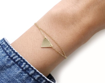 14K Gold Filled Triangle Double Bracelet