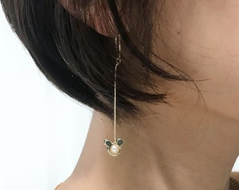 Mickey Mouse Small Hoop Drop Earrings