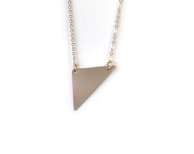 14k Gold Filled Wide Triangle necklace | Layered Necklaces