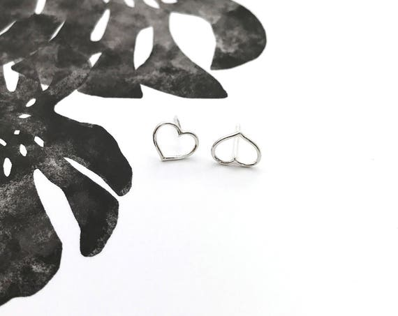 Heart Sterling Silver Earring