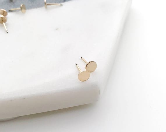 Gold Mini Dot Stud Earrings