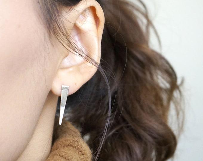 Spike Post Earring /14k Gold Filled Earrings / 925 Sterling Silver Earrings