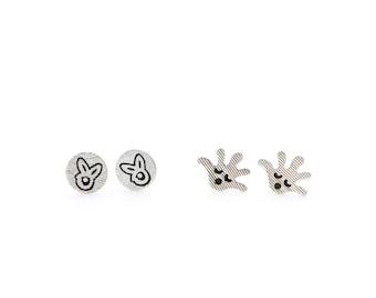 Two Fun earring / Scream earring