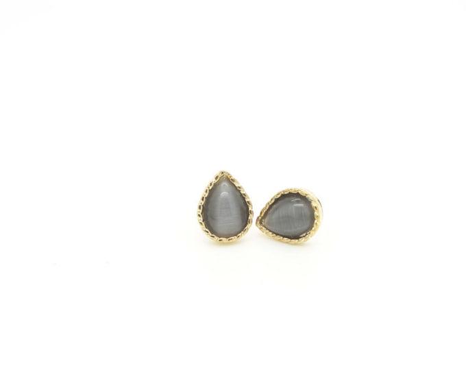 Tear Drop Titanium Post Earrings