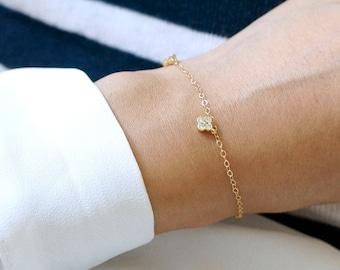 Tiny Clover Charm Bracelet