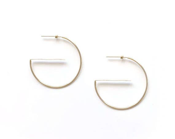 G- 14K Gold filled Hoop Earrings