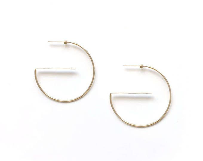 G- 14K Gold filled Hoop Earrings