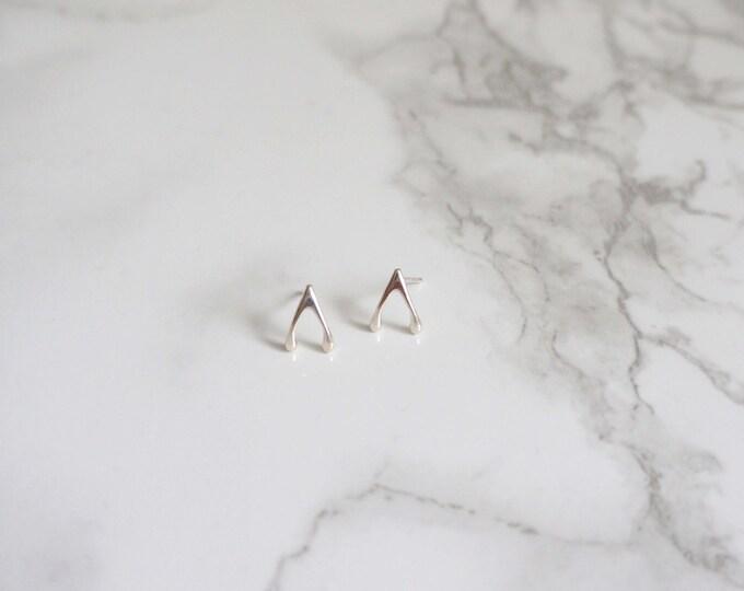 Silver Wishbone Earring