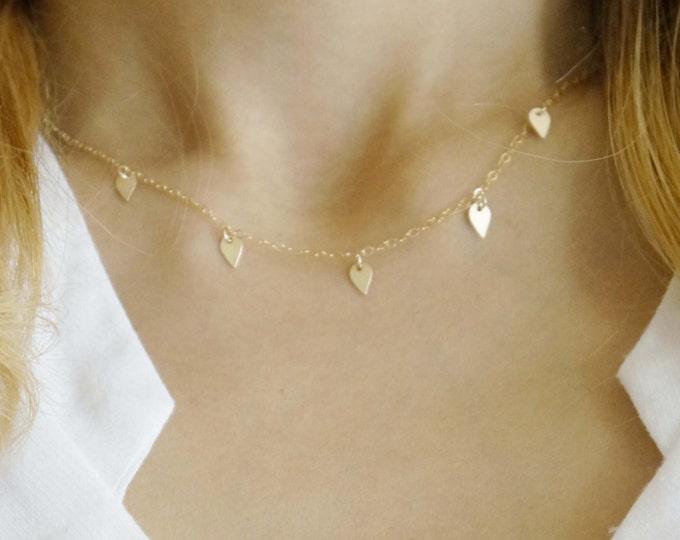 Gold Filled Tiny Lotus Petal Necklace