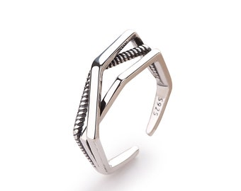 Silver Wraparound Statement Ring