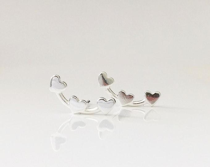 Silver Tiny Heart Earrings