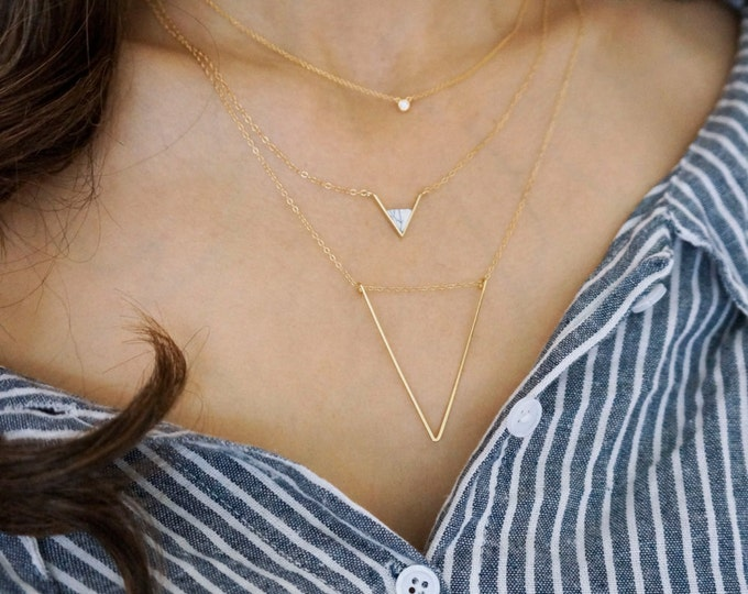 Endless Open large Triangle Necklace
