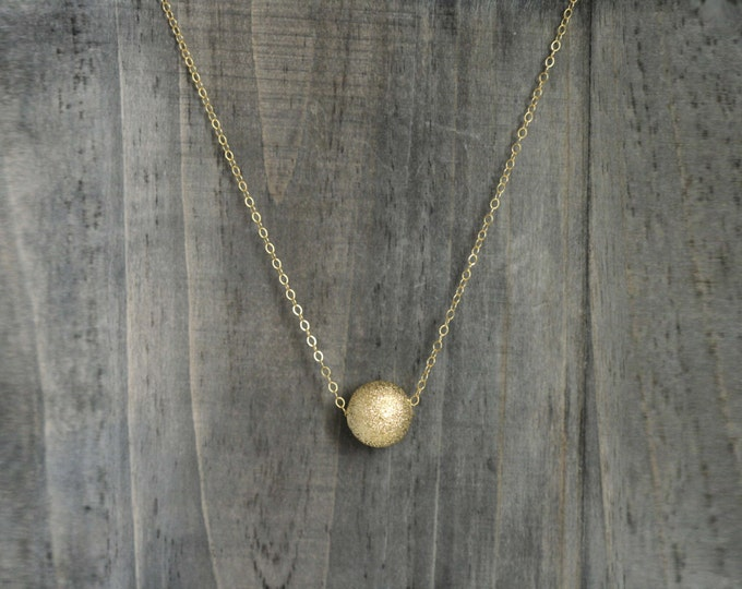 Sandblasted Gold Ball Pendant