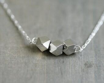 Silver Nugget Necklace