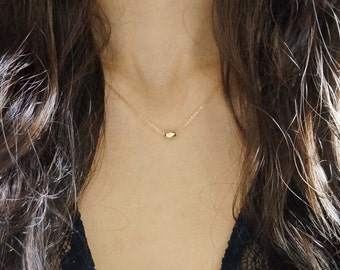 14k Gold Filled, Silver Small Oval Necklace / Bracelet