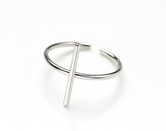 Slim Bar Silver Ring