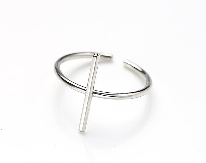 Slim Bar Silver Ring