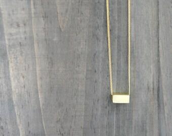 Gold Silver Minimalist Bar Necklace