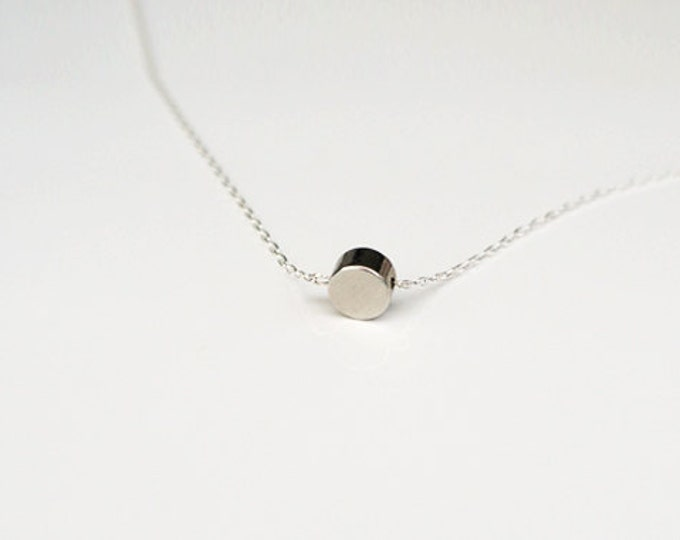 Silver Tiny Dot Necklace