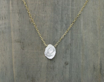 14K Gold Filled Mother of Pearl Necklace / Bridal Jewelry