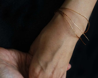 Hammered Gold Bangles