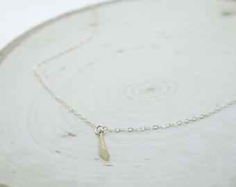 Gold Cone Pendant Necklace