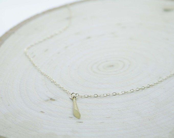 Gold Cone Pendant Necklace